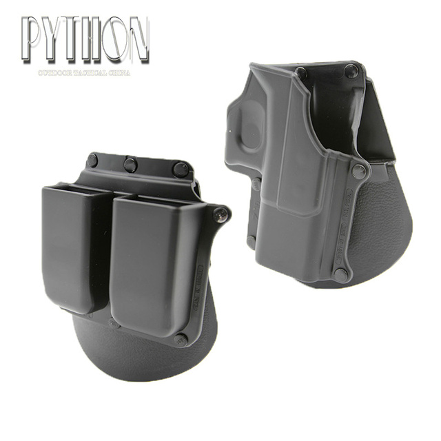 Tactical Gun Pistol Holster Protection For GlockDouble Magazine Custom Holster With Magazine Holder