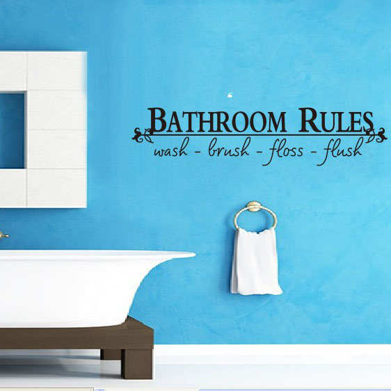 DIY Bathroom Rules Quotes Removable Waterproof Wall Stickers Bathroom Decoracion Wallpapers Letter Poster Home Decor Mural. Popular Bathroom Rules Poster Buy Cheap Bathroom Rules Poster lots