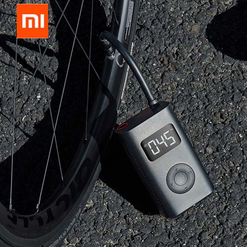 Xiaomi Mijia Portable Smart Digital Tire Pressure Detection Electric Inflator Pump for Bike Motorcycle Car Football  In stock