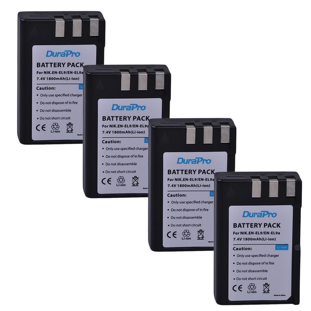 4pcs 7.4v 1800mAh EN-EL9 EN EL9 ENEL9 Rechargeable Camera Li-ion Battery for Nikon EN-EL9a D40 D60 D40X D5000 D3000 E1007N зарядное устройство для фотокамеры oem mh 23 nikon en el9 d5000 d3000 d60 d40 d40x d5000 dslr d40 10 mh 23