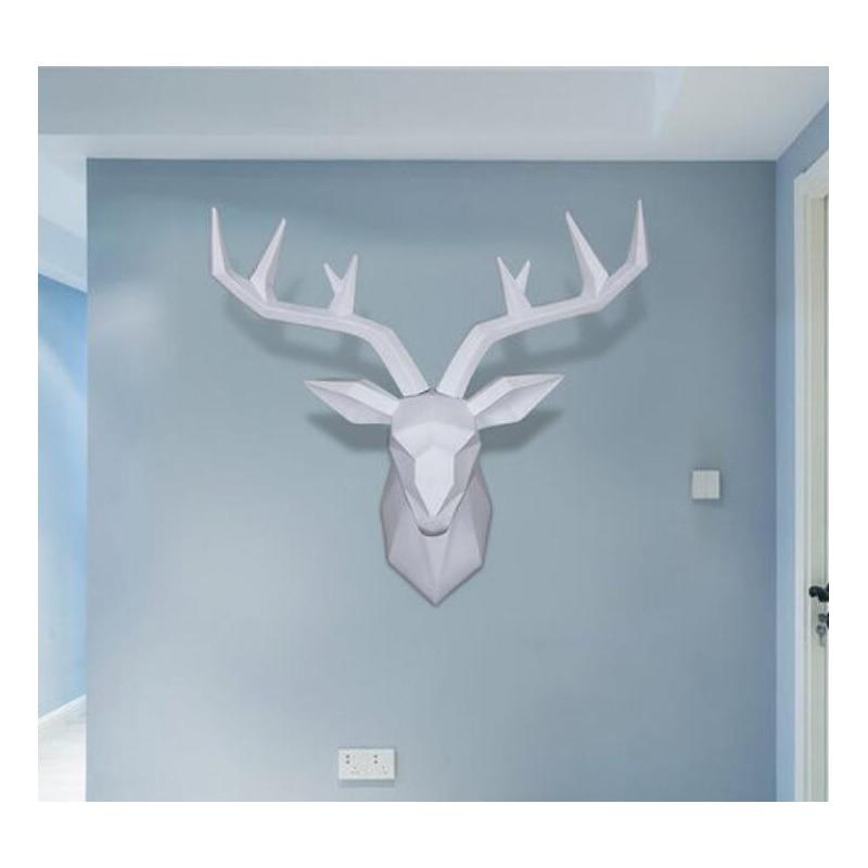 Modern european art deer head wall animal head sculpture imitation taxidermy wall decoration living room wall
