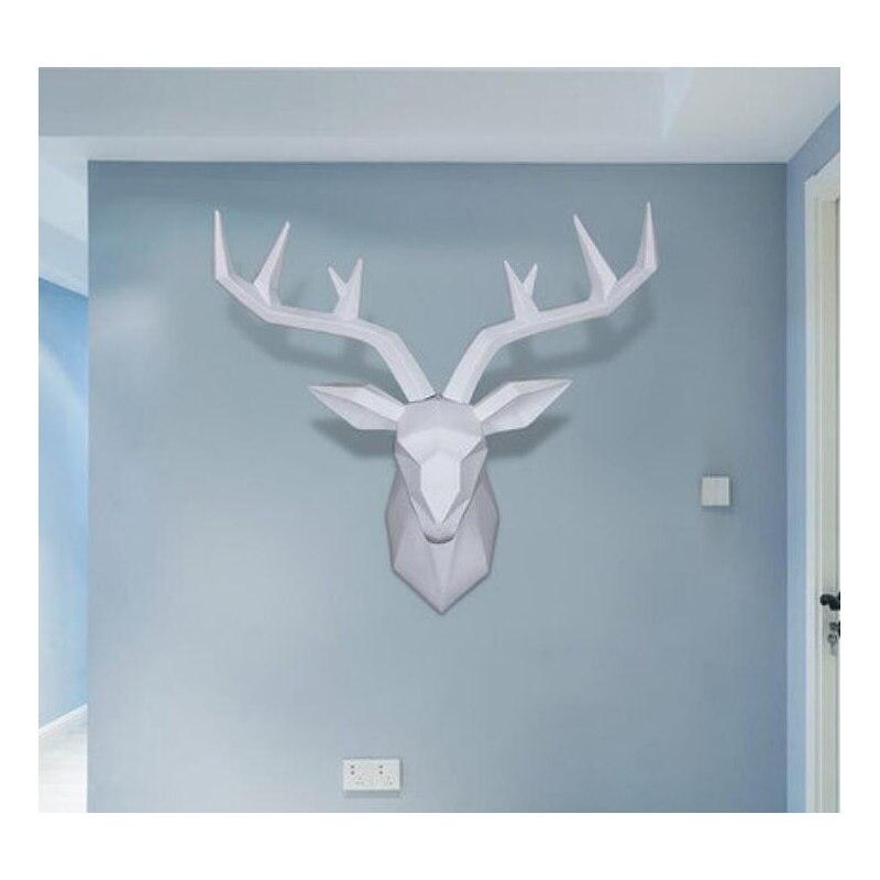 الحديثة الأوروبية الفن الغزلان رئيس جدار الحيوان رئيس النحت تقليد التحنيط الجدار الديكور غرفة المعيشة جدار ديكورا-في التماثيل والمنحوتات من المنزل والحديقة على  مجموعة 1