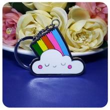 GRANDBLING Cute Rainbow Charm Key Chains Gift