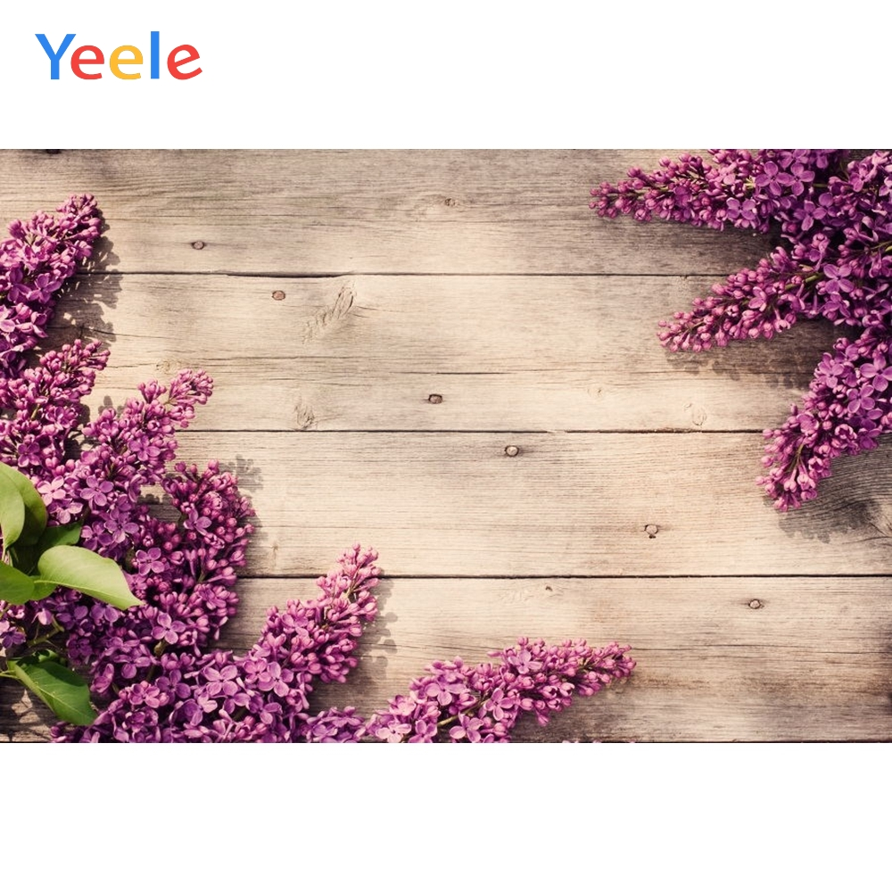 Yeele Lavender Flowers Wooden Screen Commodity Food Fashion Show Photography Backgrounds Photographic Backdrops For Photo Studio in Background from Consumer Electronics