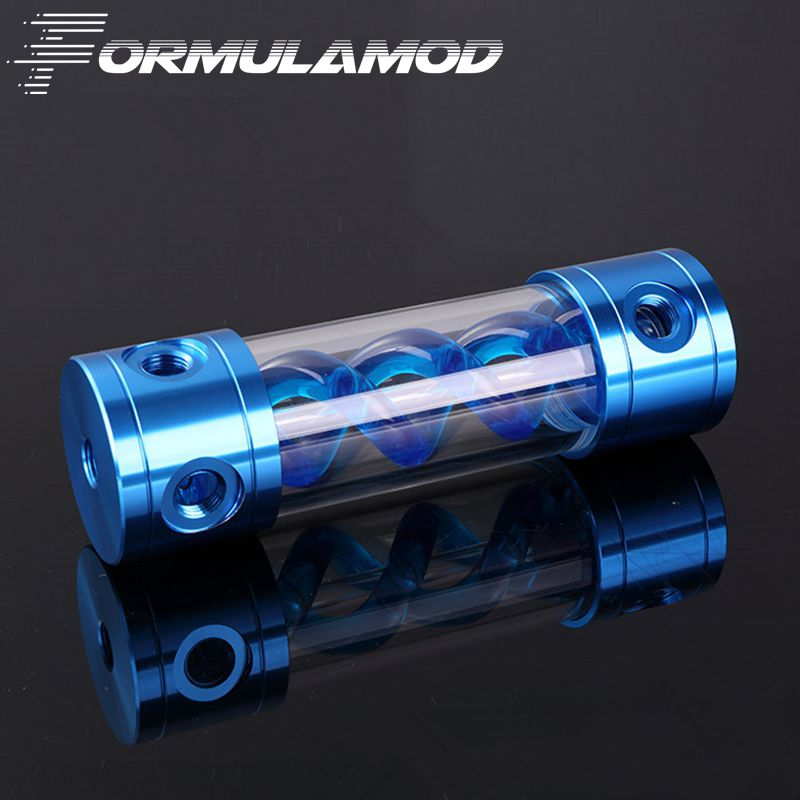 FormulaMod Aluminum  VIRUS T cylinder water reservoir water tank 180mm computer water cooling FM-VT-180 390mm cylinder water tank sc600 pump all in one set maximum flow 600l h computer water cooling radiator