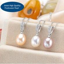 Hiphop Water Drop Silver Pendant&Necklace For Women Classic Simple Female Necklace Pendant White Pink Purple Black Necklace