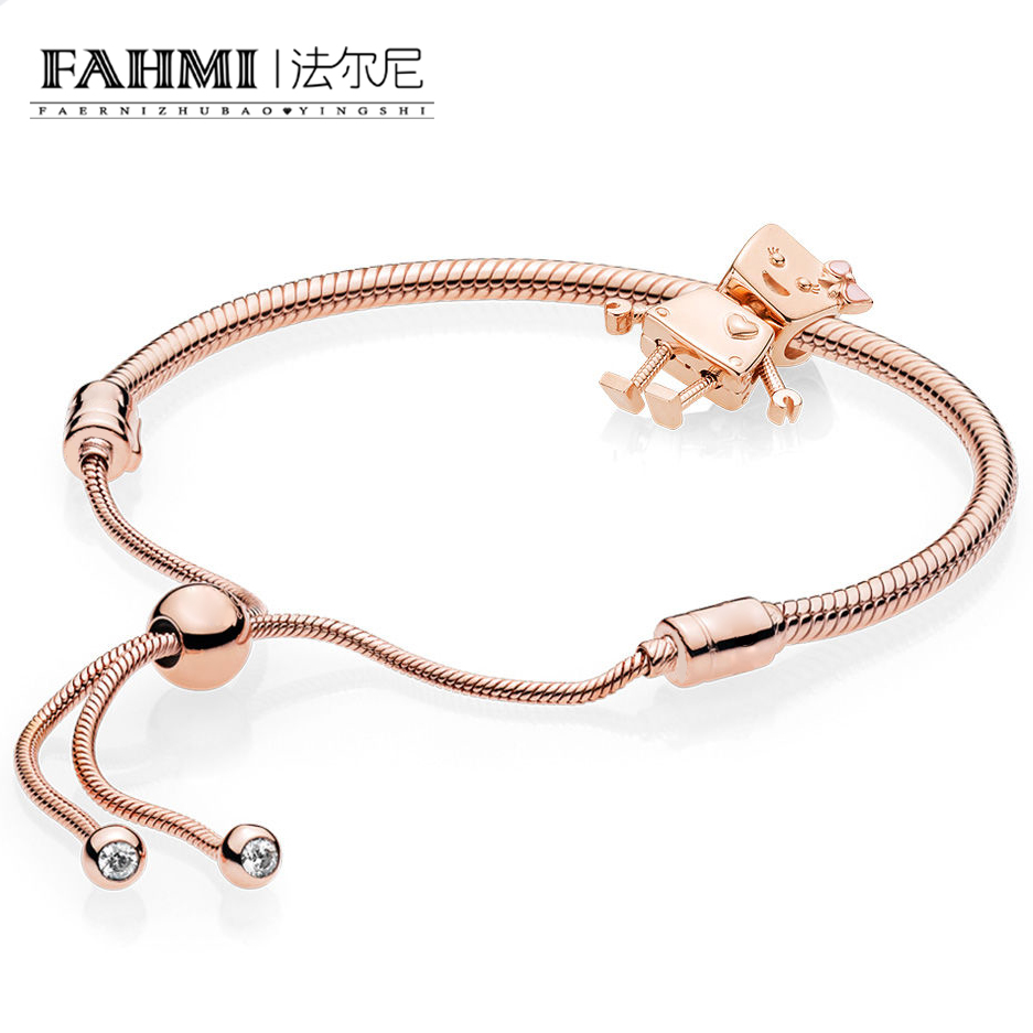 FAHMI 100% Sterling Silver Brand New 1:1 Passion Charm Robot Bracelet Set Rose Gold SeriesFAHMI 100% Sterling Silver Brand New 1:1 Passion Charm Robot Bracelet Set Rose Gold Series