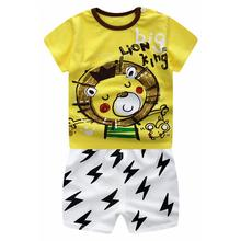 2 Pcs Baby Kids Clothes Set Cartoon T-shirt + Shorts Casual