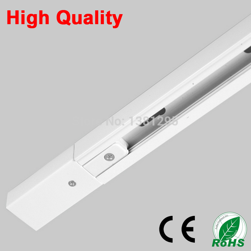 Us 92 8 20 Off 1m Led Light Track Rail Bar Universal Spot Lamp T Lighting System Fixture Rails 1 Phase Circuit 2 Wire 220v White Black In