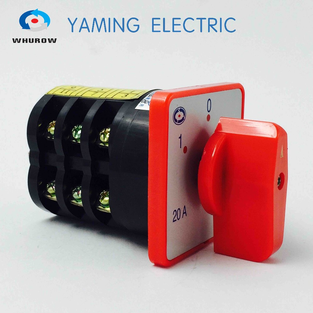 HZ5-20/4 M05 YM Combination switches Changeover rotary cam switch 4 poles 3 positions sliver contacts high voltage 20A