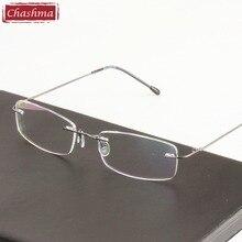028ddc0322044 Chashma Super ligero de aleación de titanio lentes de prescripción marco  claro Optico monturas de gafas de ojo sin montura para .