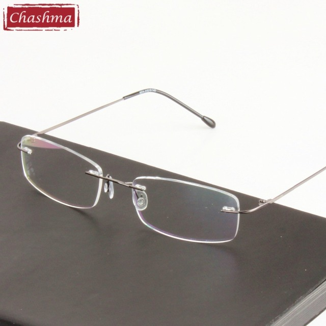 7eadd06cce Chashma Chashma Super Light Titanium Alloy Prescription Glasses Frame Clear  Optical Rimless Eye Glasses Frames For
