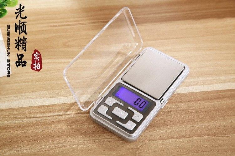 200 unids/lote 500g 0,1g/200g 0,01g Mini portátil Digital electrónico joyería bolsillo peso escala 5 llave con caja al por menor-in Células solares from Productos electrónicos    1