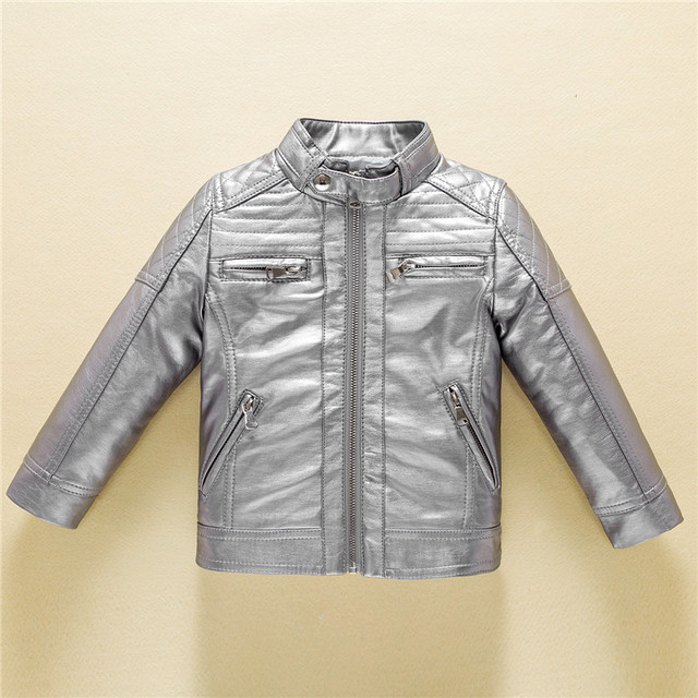 0fb8a3c3d58e Casual Leather Jacket for Boys Autumn Fashion Coat Girls 2018 Trendy ...