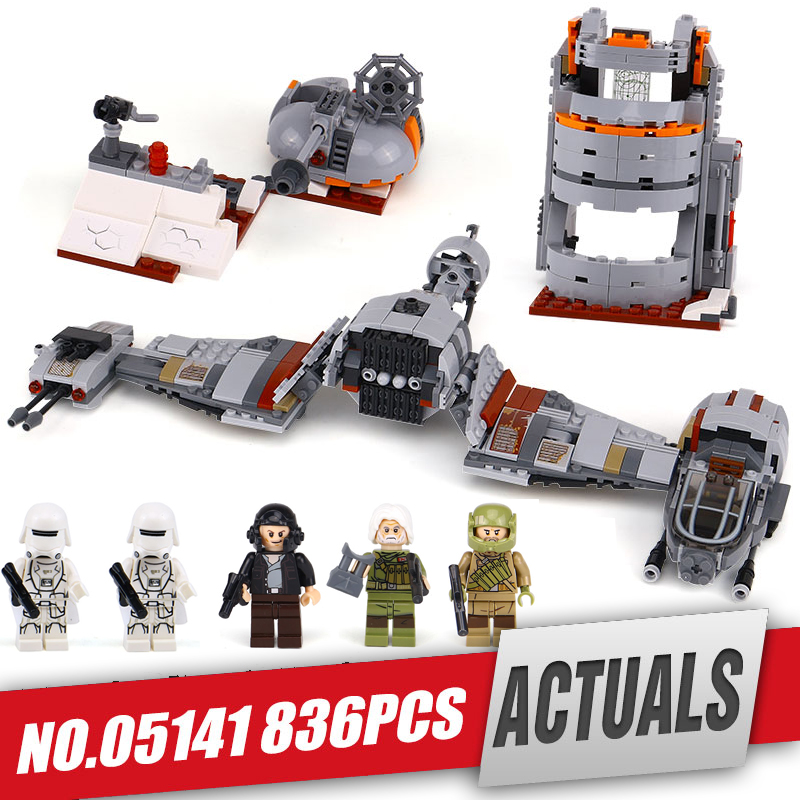 Lepin 05141 Star Plan Series Wars The Defense Of Crait Set legoing 75202 Building Blocks Bricks Educational Toys for children new lepin 16009 1151pcs queen anne s revenge pirates of the caribbean building blocks set compatible legoed with 4195 children
