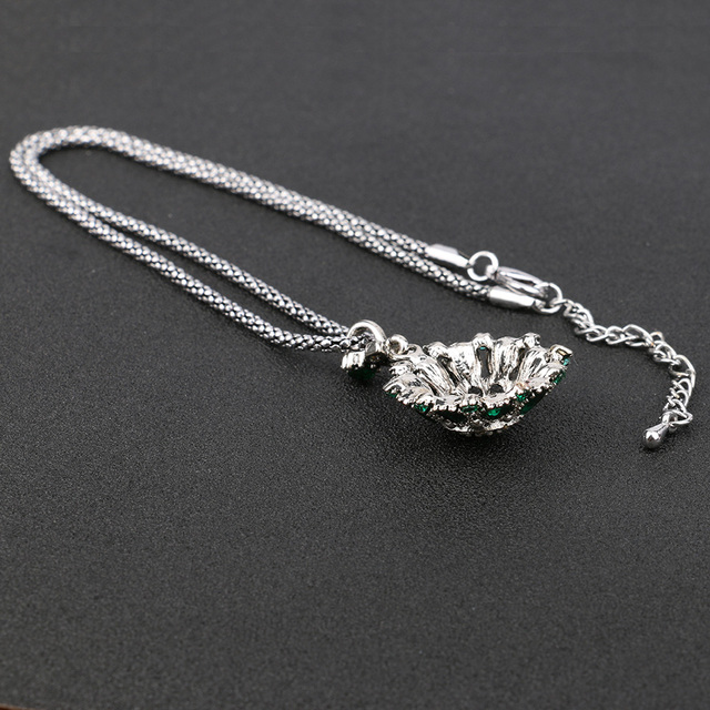 Bohemian Vintage Silver Plated Pendant Necklace