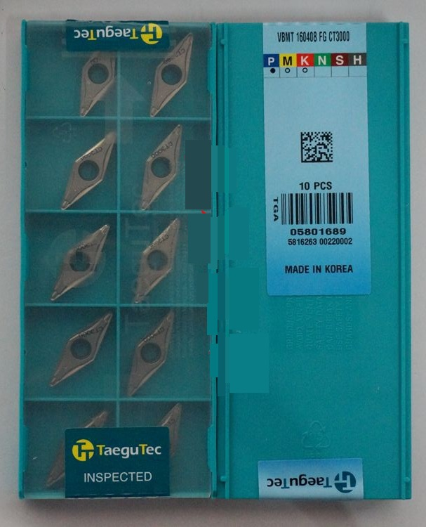tungsten carbide inserts turning tools Taegutec VBMT160408FG CT3000 wholesale <font><b>VBMT</b></font> <font><b>160408</b></font> FG CT3000 for image