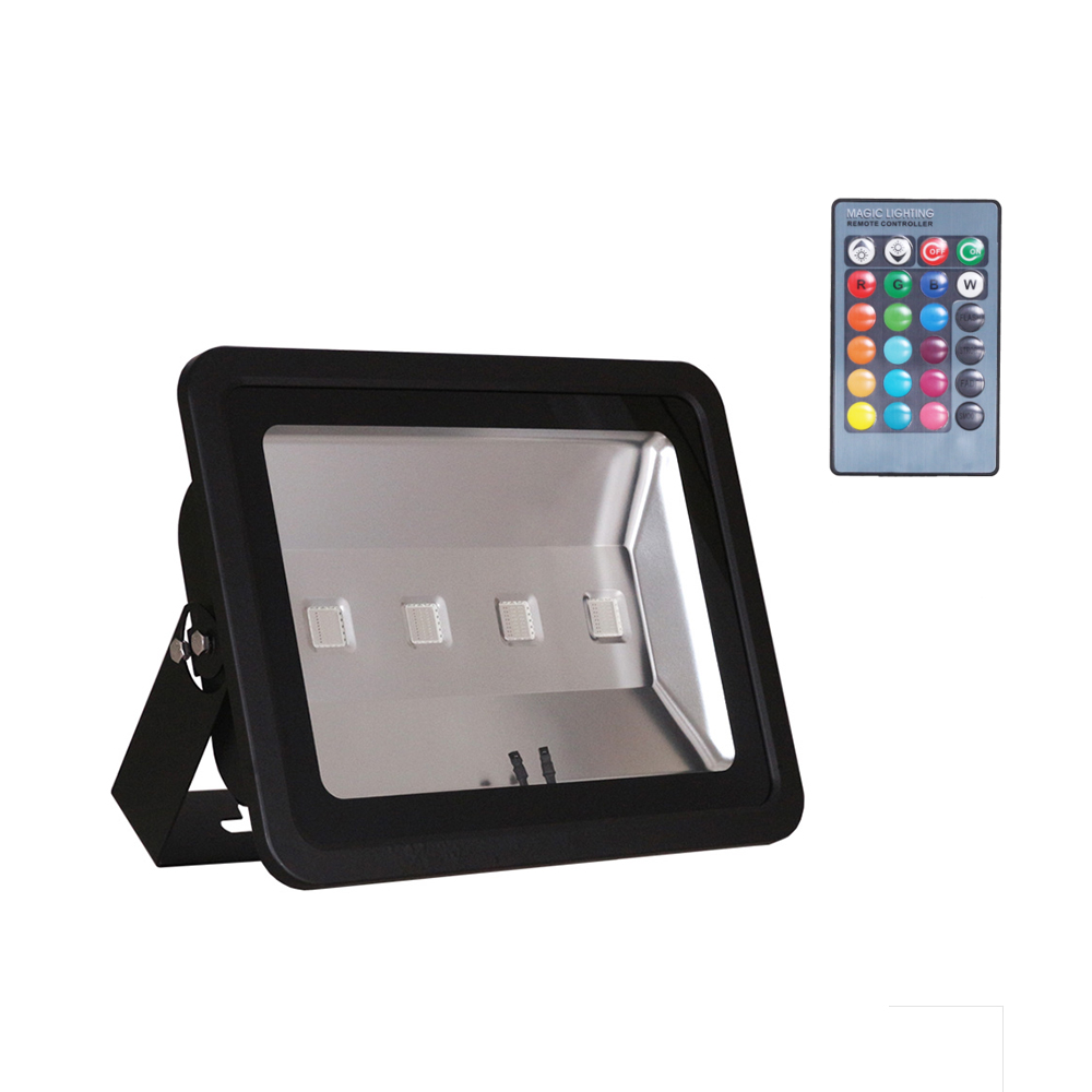 200w 400w Rgb Led Flood Light 16 Colors Change 4 Modes With Remote Control 85 265v Black Shell Backpack Waterproof Outdoor Ip66