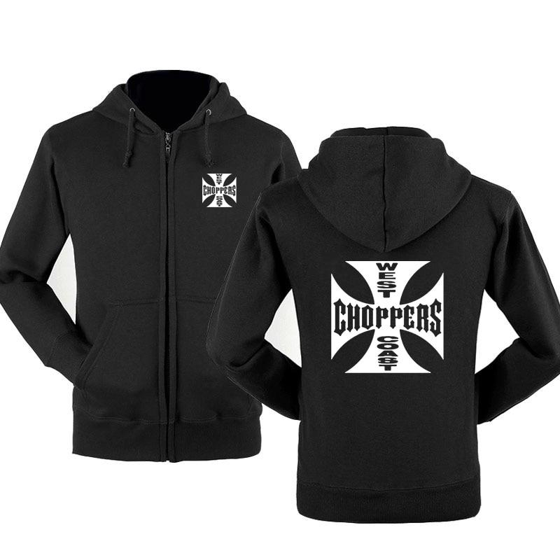 Spring Autumn Sweatshirt West Coast Choppers Hoodies Men Streetwear Fleece Zipper Hooded Jacket Hip Hop Harajuku Tracksuit