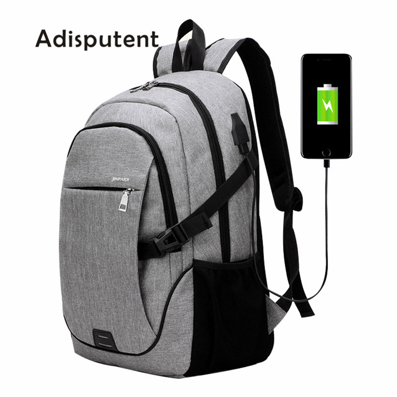 Litthing New Men Business Laptop Backpack With USB Charging Port Anti Theft Travel Bag 15.6 Inch Computer  Notebook Mochila Male(China)
