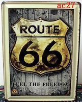 Multi Tipo! 30*40 cm, 10 Pezzi US Route 66 TARGA in metallo Rustico Libertà In Metallo In Metallo Poster Casa Camera Garage Bar Diner Decor Spedizione Gratuita