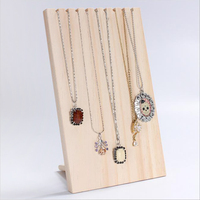 Unfinished Wood Jewelry Display Stand Necklace Holder Rack Necklace Pendant Rack for Home Shop Counter Shows