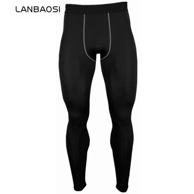 6a824ca00cd75 LANBAOSI Men Quick Dry Pant Compression Tights Base Layer Leggings Fitness  Crossfit Joggers Gym Workout Running Anti-Sweat Pants