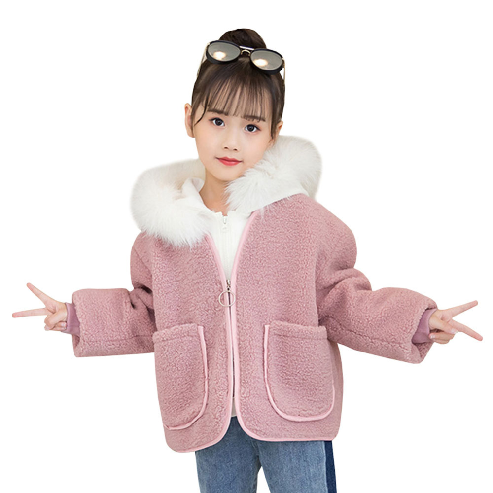 Winter Children Woolen coat Thermal Cotton Coat Set Jackets Kids Hooded Fur Collar Zipper Outerwear Baby Girl Parka 2 piecesWinter Children Woolen coat Thermal Cotton Coat Set Jackets Kids Hooded Fur Collar Zipper Outerwear Baby Girl Parka 2 pieces