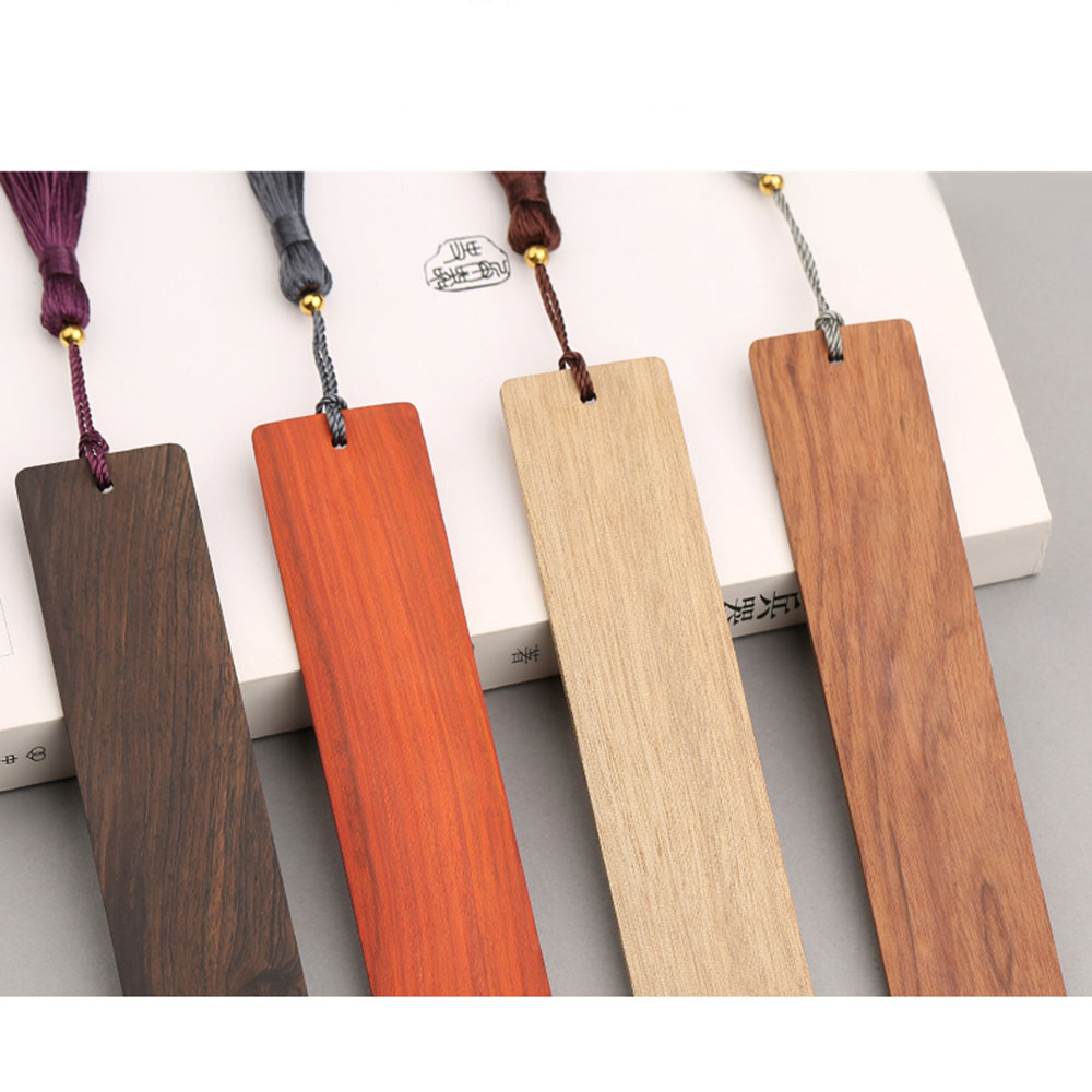 4pc/ Wooden Bookmark Classical Chinese Style Creative Wood Bookmark Gift Box