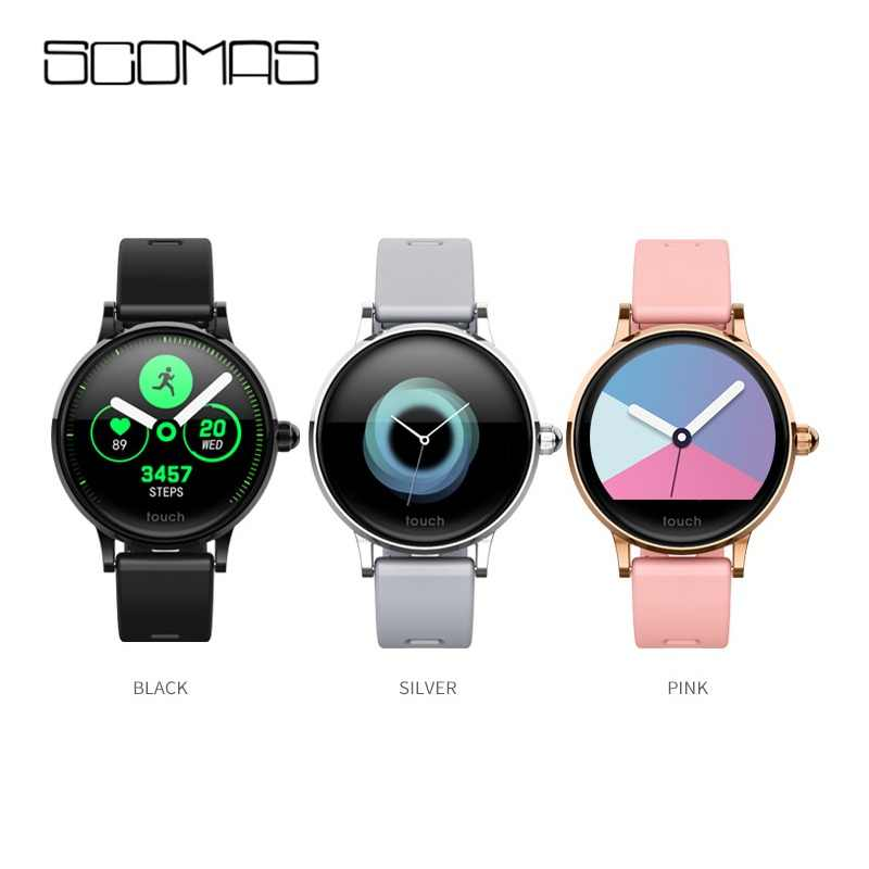 SCOMAS S9 Smart Watch IPS Color Screen Smart bracelet women Fashion Fitness Tracker Heart Rate monitor Silicone magnetic strap