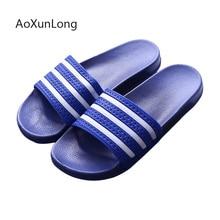 Мужские тапочки; Летняя мужская обувь для дома и ванной; вьетнамки на мягкой подошве в полоску; мужские пляжные сандалии для отдыха; обувь на плоской подошве