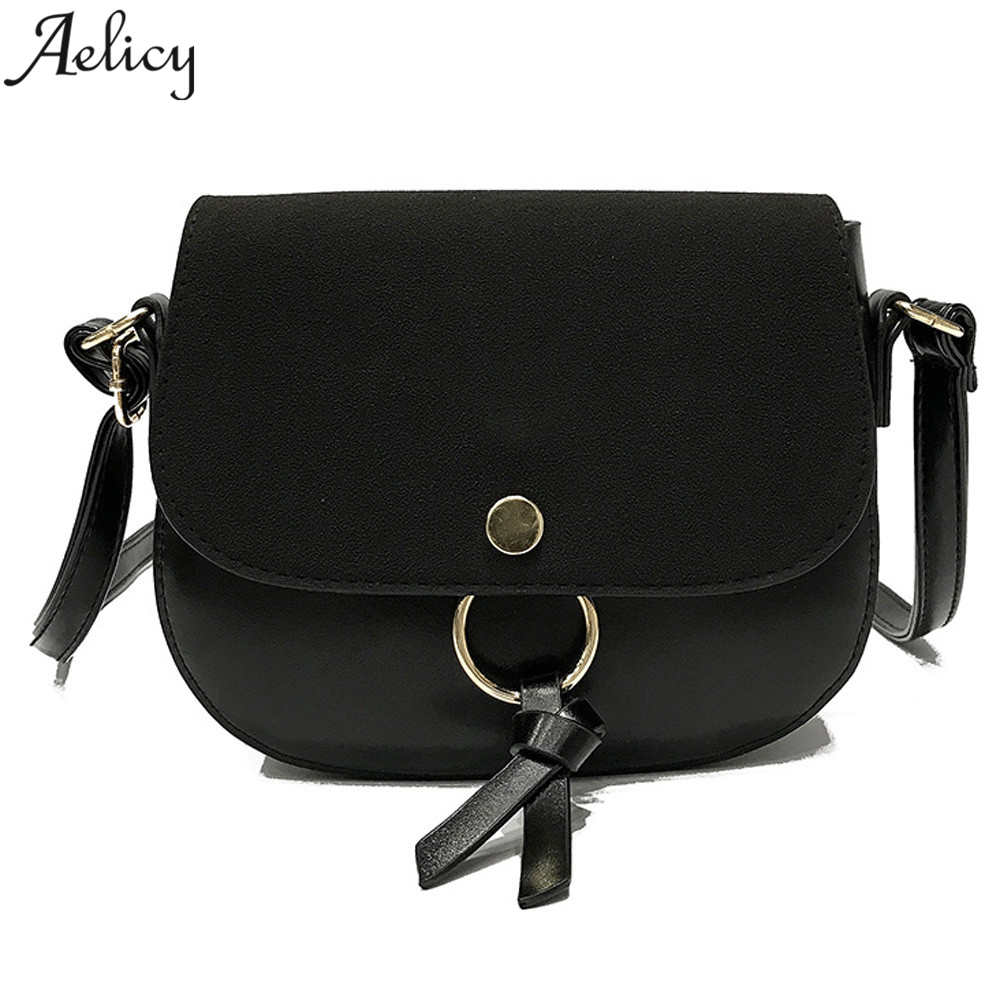 Aelicy Vintage PU Leather Women Bag Fashion Small Women Single Strap Messenger Shoulder Bag leather Crossbody Bags for Girls
