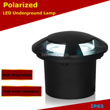 цена на Polarized light 5W LED Underground Ligjht 12V 24V IP65 Waterproof CE ROHS Outdoor Landscape Lighting single color lamp 4PCs/Lot
