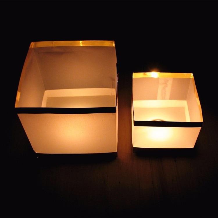 10pcs / lot 10cm / 15cm Linterna de vela flotante de agua cuadrada - Para fiestas y celebraciones - foto 4