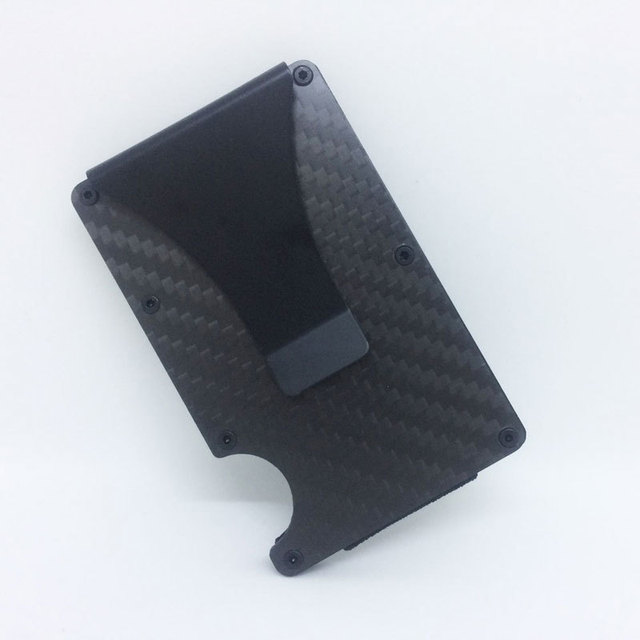 Carbon fiber metal money rfid credit business card wallet colourmoves Images