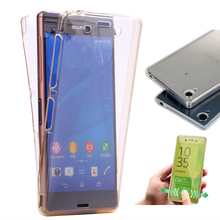 Z5mini Crystal Touch Full body Transparent Case for Sony Xperia Z5 Compact Mini Cover Soft Silicone Phone bag Cases Z5Compact