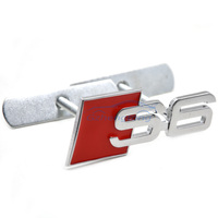1x Universal 3D Metal Alloy S6 Logo Car Styling Front Hood Grille Emblem Badge Sticker For