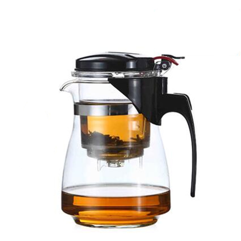 500/750/1000ML High Capacity Heat-resistant Glass Flower Teapot With tea filter Removable and washable Tea Set Drinkware