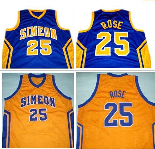05cf590625bd Derrick rose  25 simeon high school basketball jersey blue