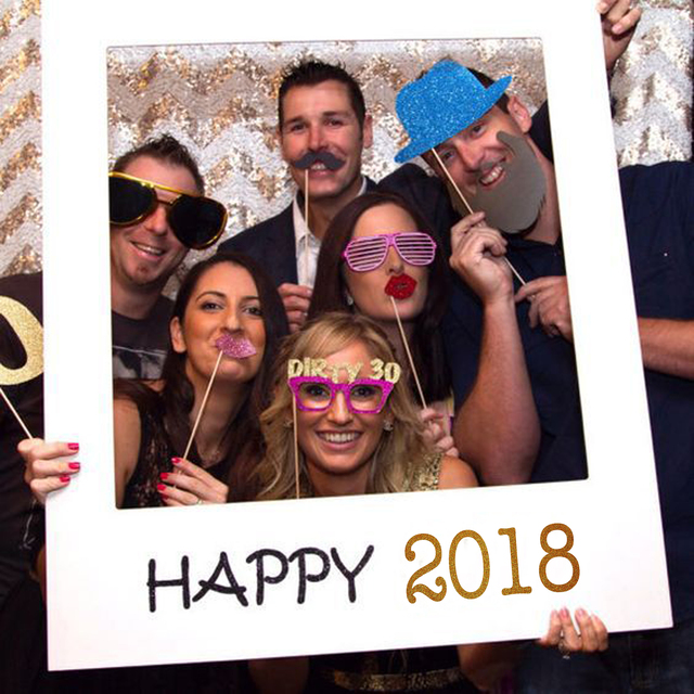 Happy 2018 Photo Booth Frame Props Happy Birthday Photo Booth Props