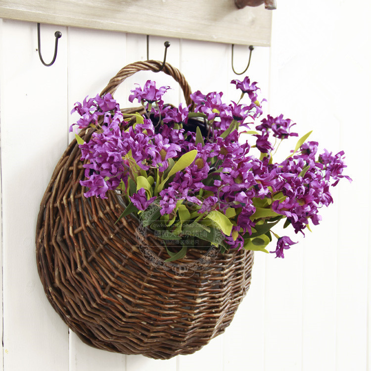 Panier En Osier Wicker : Handmade wicker hanging basket flower vase