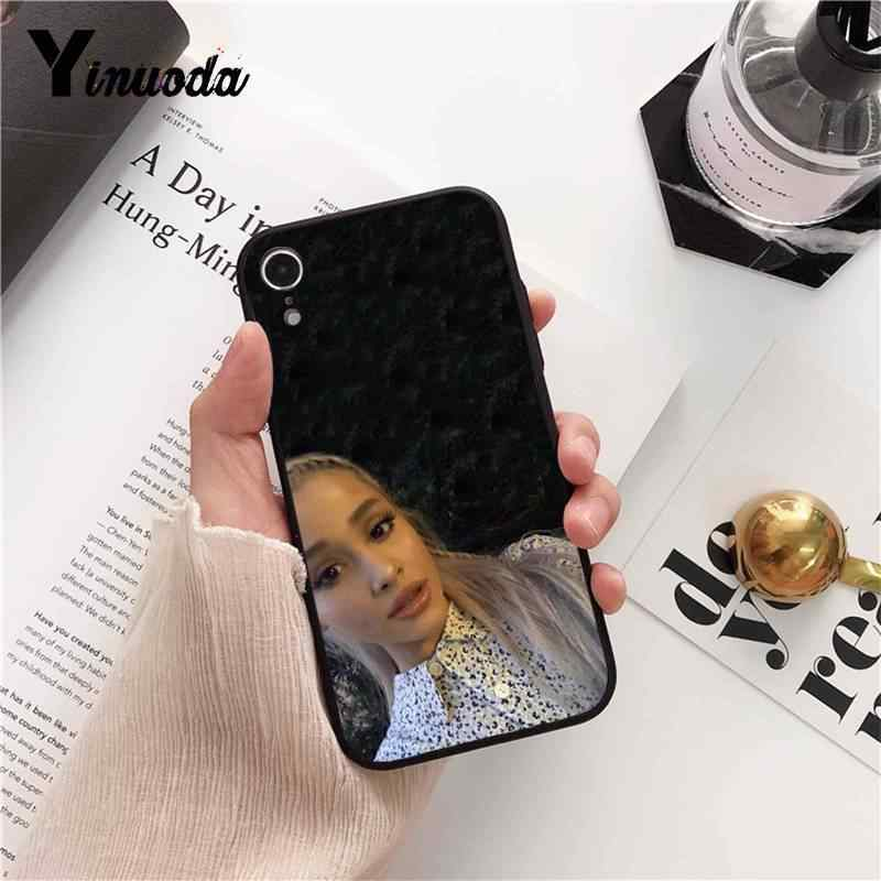 Yinuoda Ariana Grande กรณีโทรศัพท์นุ่มสีดำสำหรับ iPhone 5 5Sx 6 7 7 plus 8 8 Plus X XS MAX XR 10