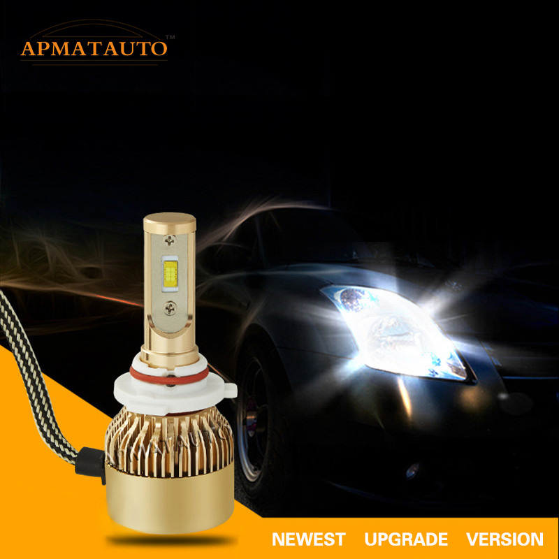 2X White H1 H3 H4 H7 H8 H9 H11 9005 HB3 9006 HB4 880 881 H27W 9012 LED Headlamp 18000LM 110W Headlights Kit Bulb Fog Light 12V
