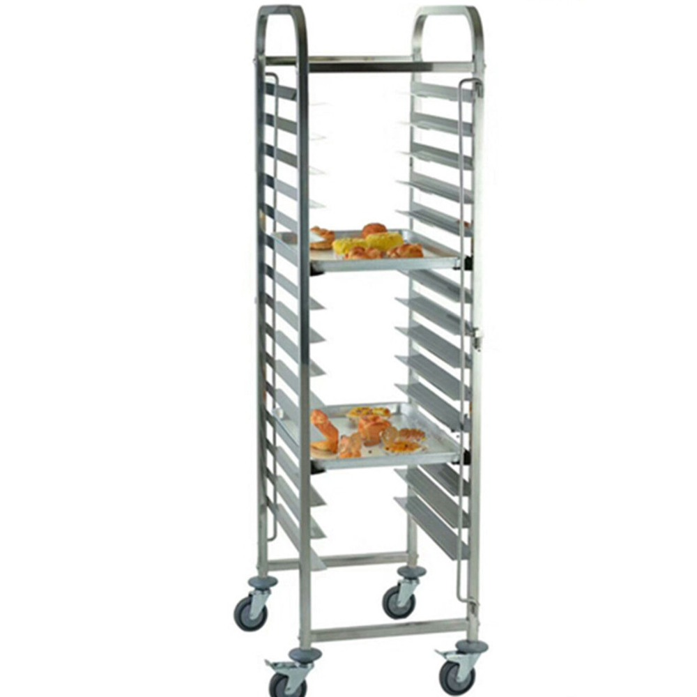 (Ship from EU) 16 Levels Shelving Stainless Steel Gastronorm Bakery Trolley Cart Cake Trolley Home Restaurant(Ship from EU) 16 Levels Shelving Stainless Steel Gastronorm Bakery Trolley Cart Cake Trolley Home Restaurant