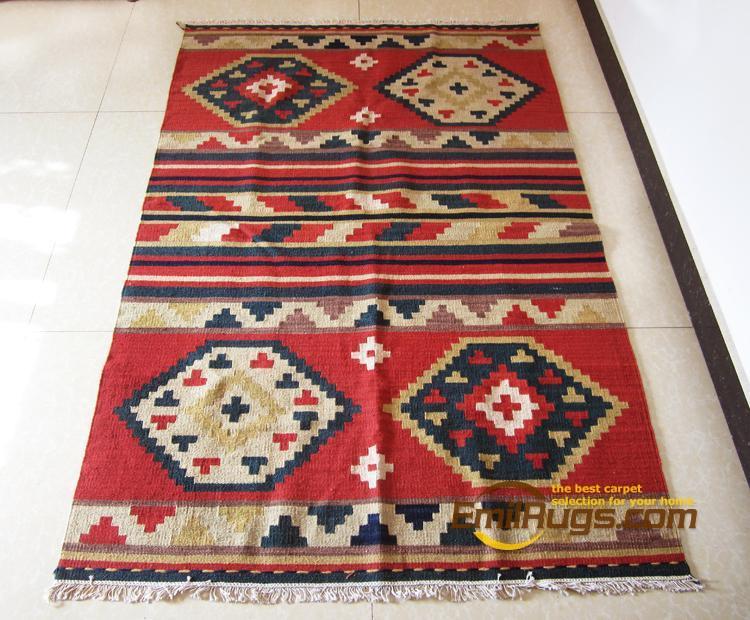 Ковер Kilim индийские ковры геометрический узор шерсть американский кантри народном стиле гостиная журнальный столик ковер gc149-25