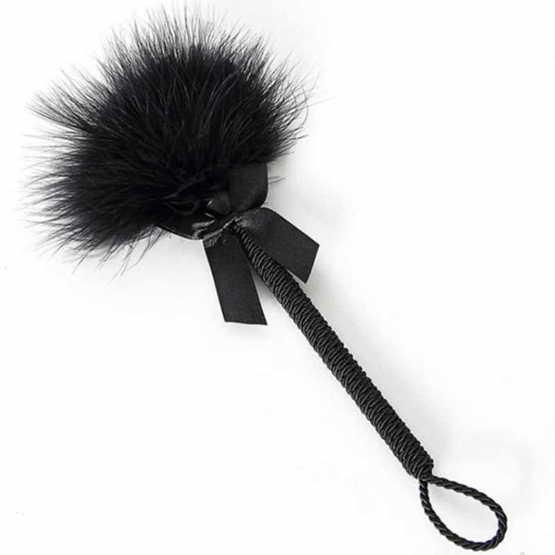 Sexy costumes hot women wands Accessories short black feather rod cosplay play sex products costumes