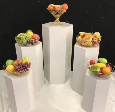 Support de luxe 5 pièces   Scène danniversaire mariage arrière, accessoires métalliques Dessert Table gâteau porte-fleurs accueil surface affichage en vitrine