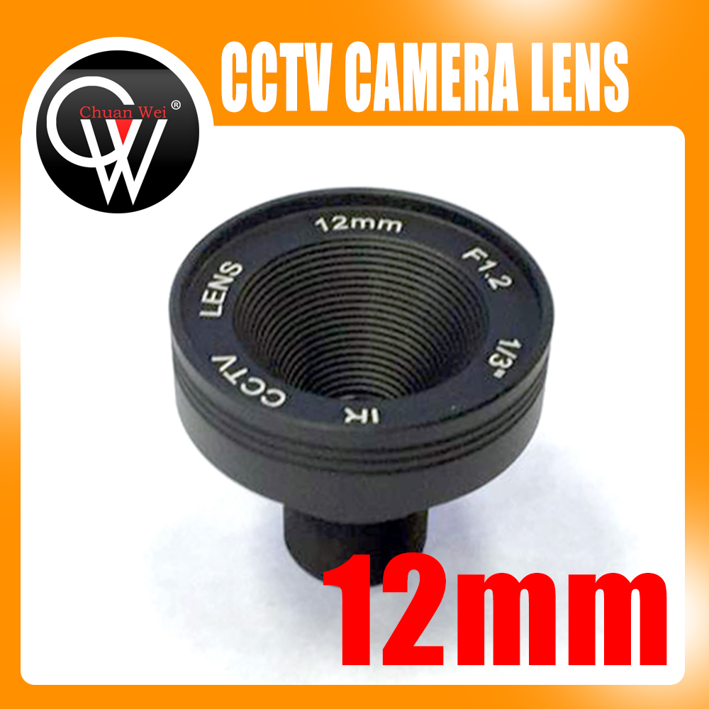 1/3 F1.2 CCTV Fixed Iris IR Infrared 12mm lens M12 Mount Lens For Security CCTV Camera