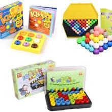 Качество пластика IQ логическая головоломка ум головоломки бусины Танграм головоломки игра подарок для детей взрослых