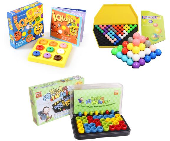 Quality Plastic IQ Logic Puzzle Mind Brain Teaser Beads Tangram Puzzles Game Gift For Children Adults